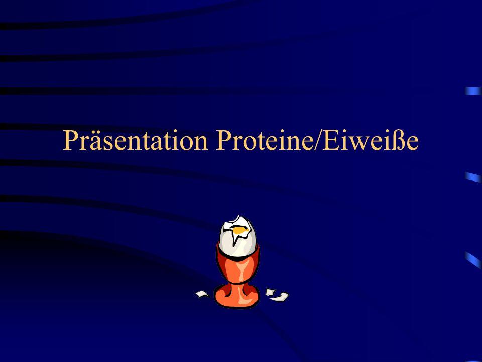 Präsentation Proteine/Eiweiße