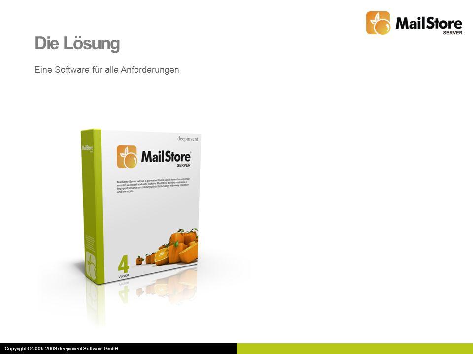 Die Lösung Eine Software für alle Anforderungen Copyright © 2005-2009 deepinvent Software GmbH