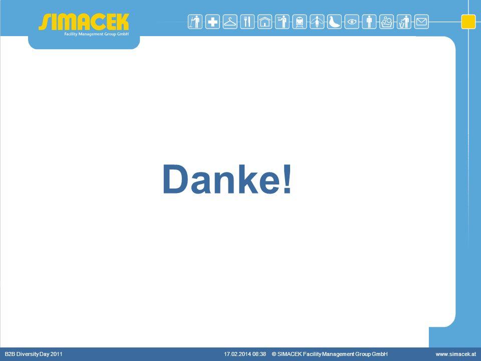 © SIMACEK Facility Management Group GmbHwww.simacek.at Danke! B2B Diversity Day 201117.02.2014 08:39