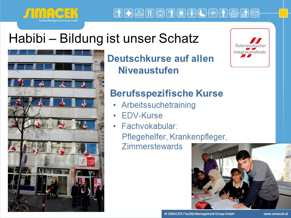 © SIMACEK Facility Management Group GmbHwww.simacek.at Weiter geht es……..