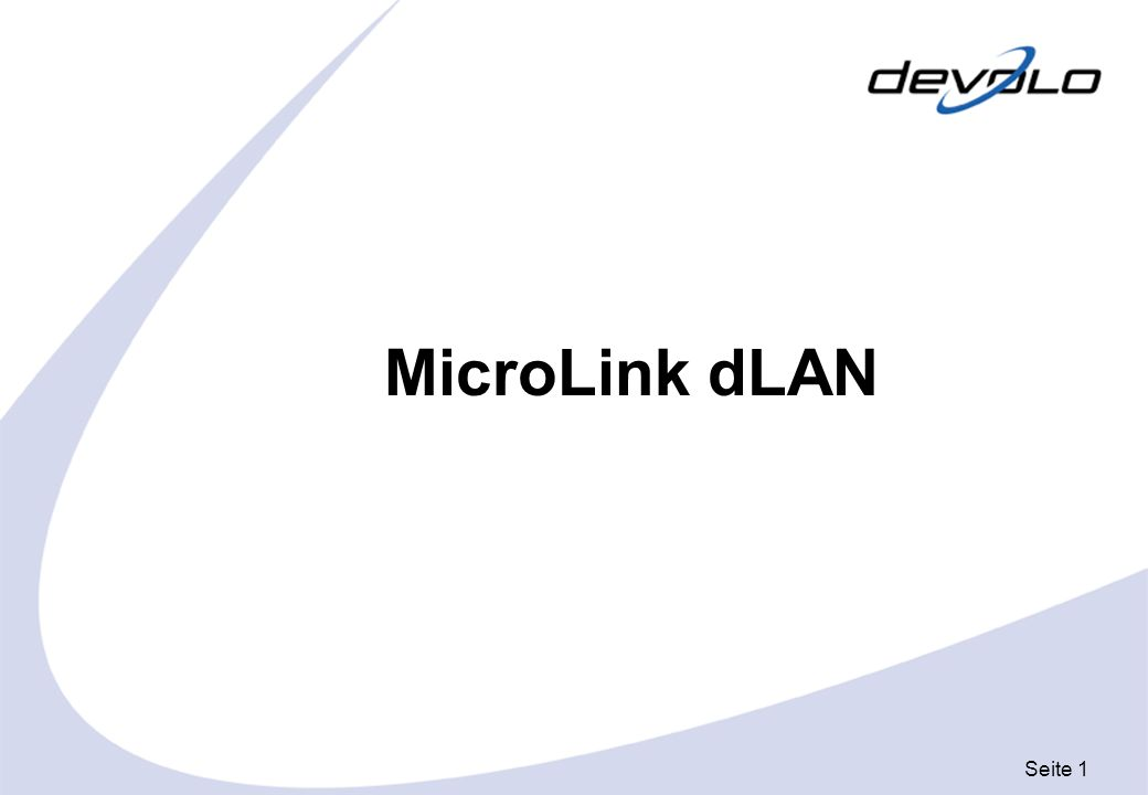 Seite 12 Telefon- buchse Splitter MicroLink dLAN oder MicroLink dLAN USB MicroLink dLAN Hausinternes 230 V Stromnetz 1.