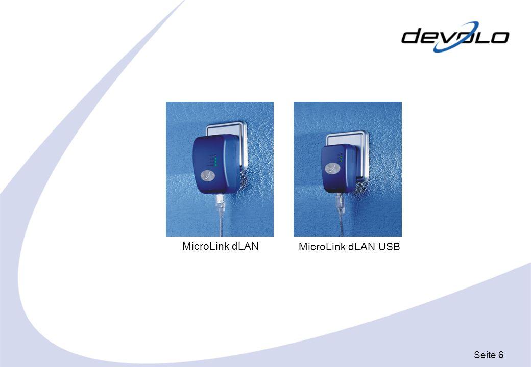 Seite 7 Anwendungsbeispiel 1 Telefon- buchse Splitter MicroLink dLAN oder MicroLink dLAN USB MicroLink dLAN Hausinternes 230 V Stromnetz 1.