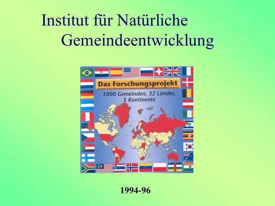 Institut für Natürliche Gemeindeentwicklung 1994-96