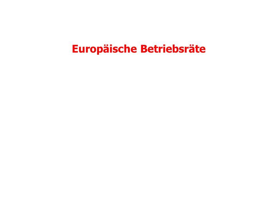 Europäische Betriebsräte: Quantitative Entwicklung Etwa ein Drittel aller EBR-pflichtigen Unternehmen und etwa 14,5 Mio.