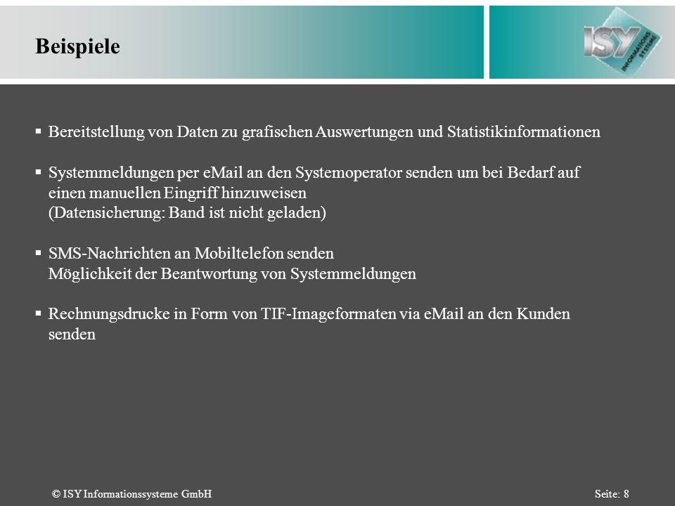 © ISY Informationssysteme GmbHSeite: 19 AS/400 Befehle Seite 4 SPLFTOTIF - Konvertieren einer Spoolfile-Ausgabe in ein TIF-Format 4.