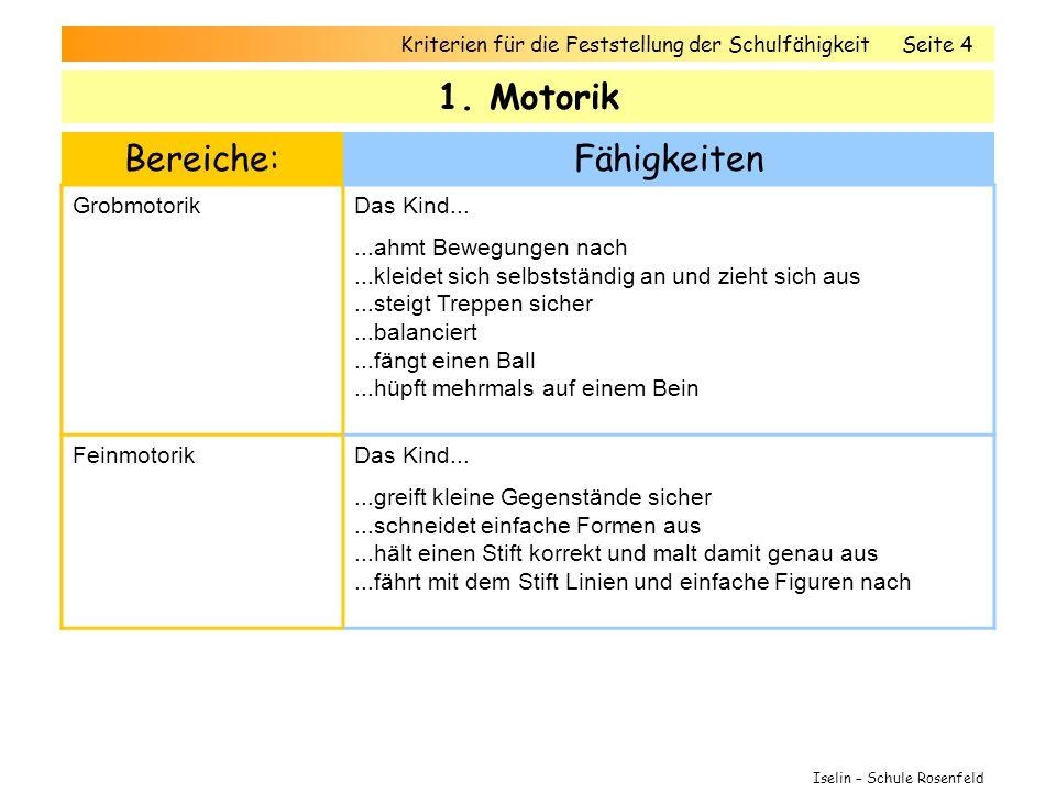Kriterien für die Feststellung der SchulfähigkeitSeite 4 1.