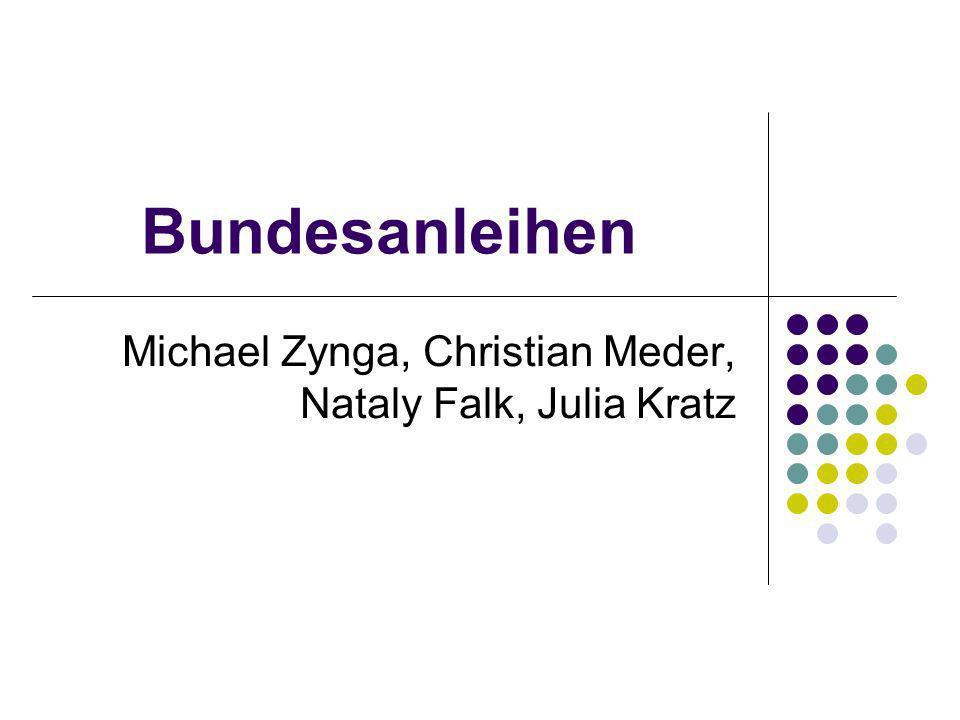 Bundesanleihen Michael Zynga, Christian Meder, Nataly Falk, Julia Kratz