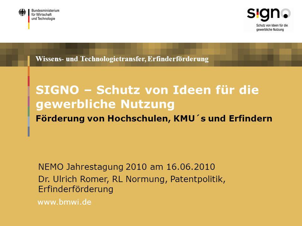 SIGNO-Erfinder kostenlose Erstauskunft für Erfinder (max.