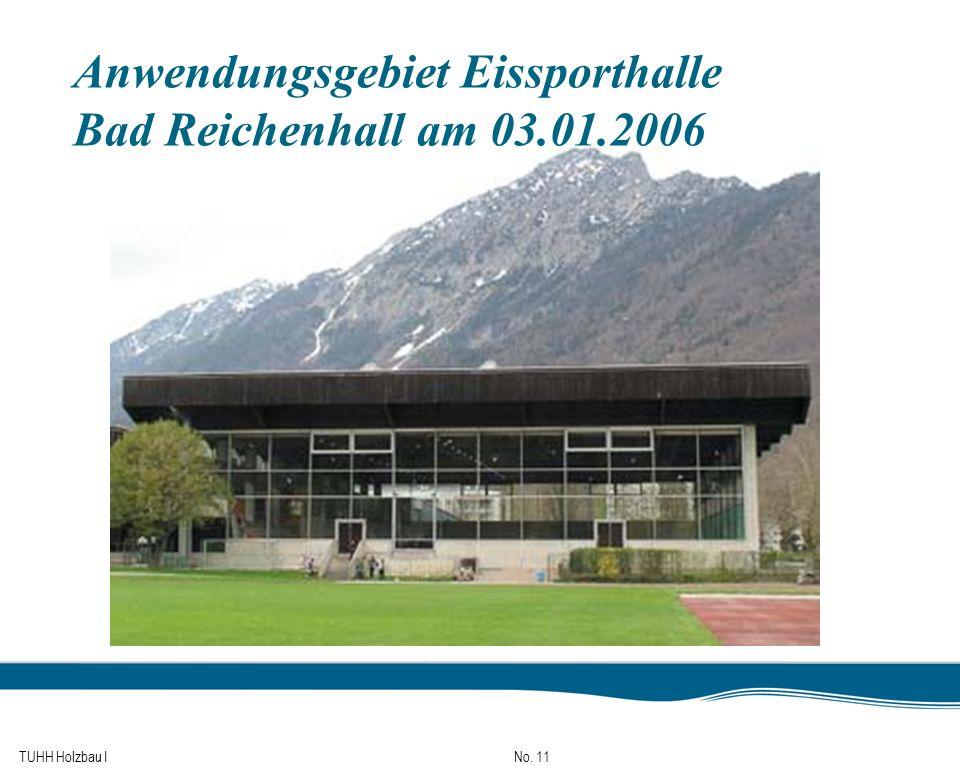 TUHH Holzbau I No. 11 Anwendungsgebiet Eissporthalle Bad Reichenhall am 03.01.2006
