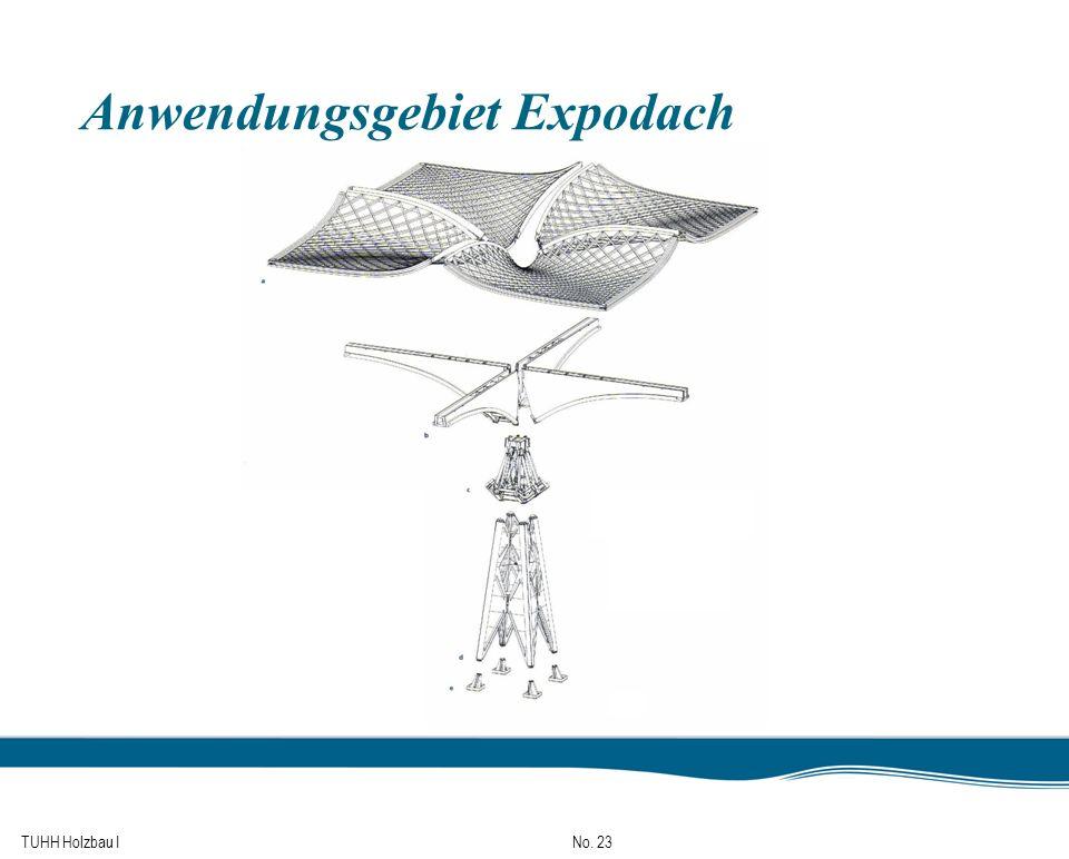 TUHH Holzbau I No. 23 Anwendungsgebiet Expodach