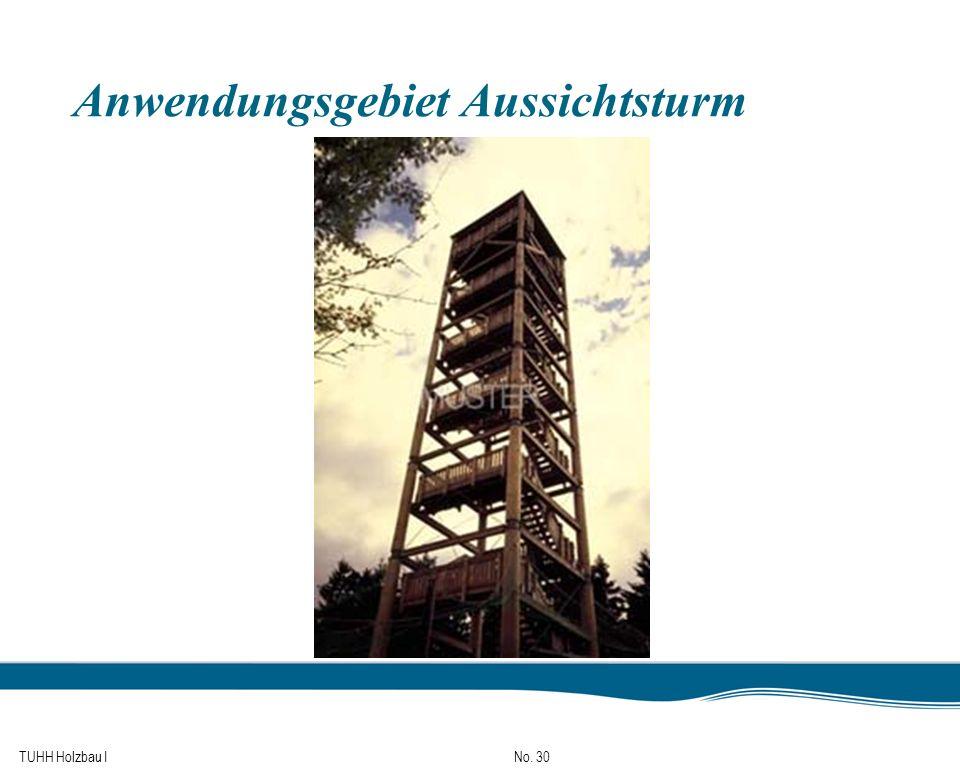 TUHH Holzbau I No. 30 Anwendungsgebiet Aussichtsturm
