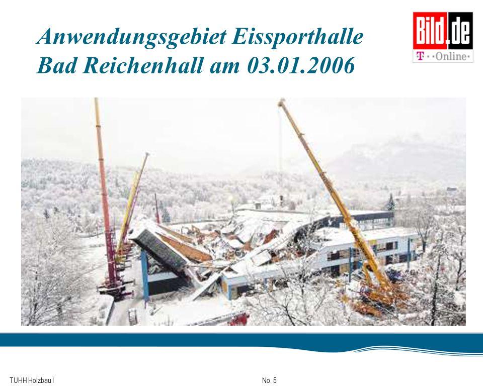 TUHH Holzbau I No. 5 Anwendungsgebiet Eissporthalle Bad Reichenhall am 03.01.2006