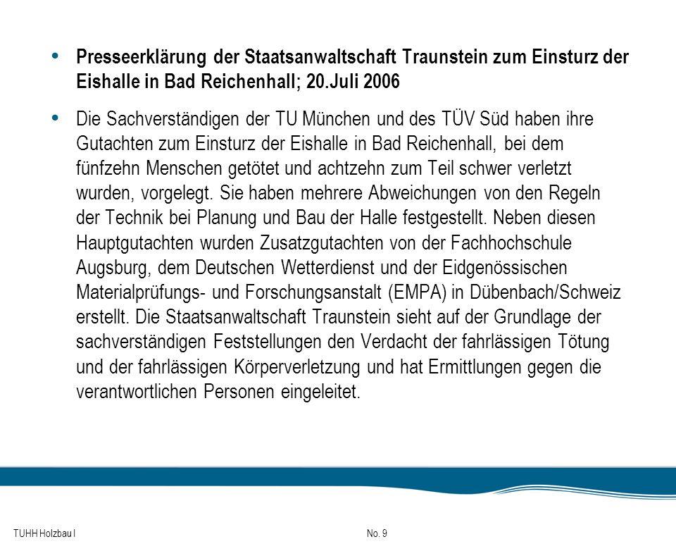 TUHH Holzbau I No. 170 Durch Druck und Biegung beanspruchte Bauteile 2. Biegedrillknicknachweis: