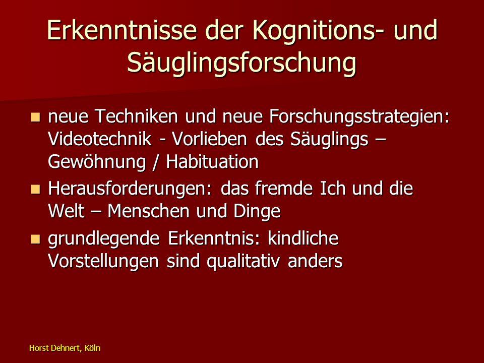 Horst Dehnert, Köln Erkenntnisse der Kognitions- und Säuglingsforschung neue Techniken und neue Forschungsstrategien: Videotechnik - Vorlieben des Säu