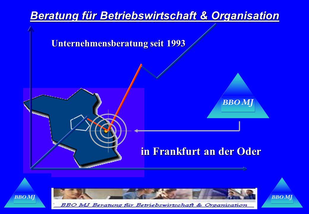 Beratung für Betriebswirtschaft & Organisation Unternehmensberatung seit 1993 in Frankfurt an der Oder