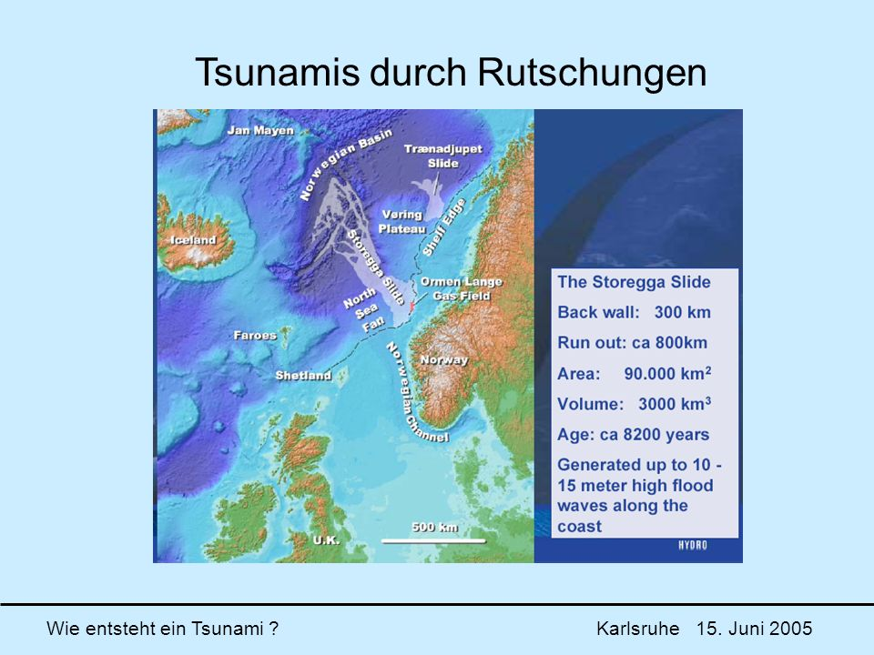 Wie entsteht ein Tsunami ? Karlsruhe 15. Juni 2005 Tsunamis durch Rutschungen