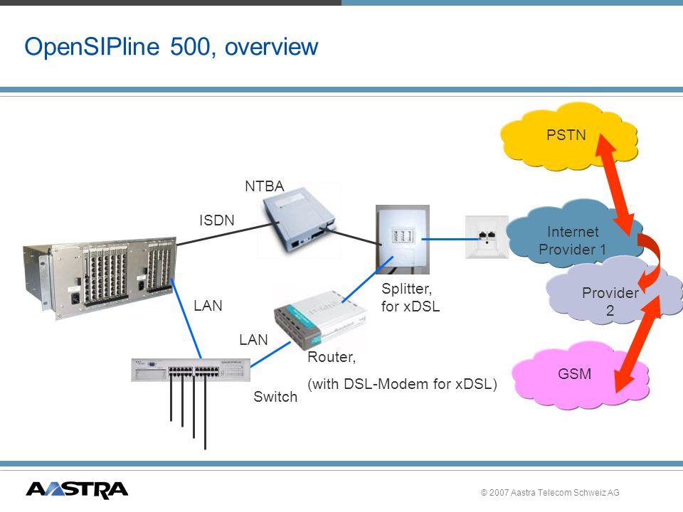 © 2007 Aastra Telecom Schweiz AG OpenAttendant 500, CLIP based Callback, Hinweise »Nutzung von Systemmerkmalen ist mit CLIP based Callback nicht möglich, –wie z.B.eine Rückfrage, Konferenz.