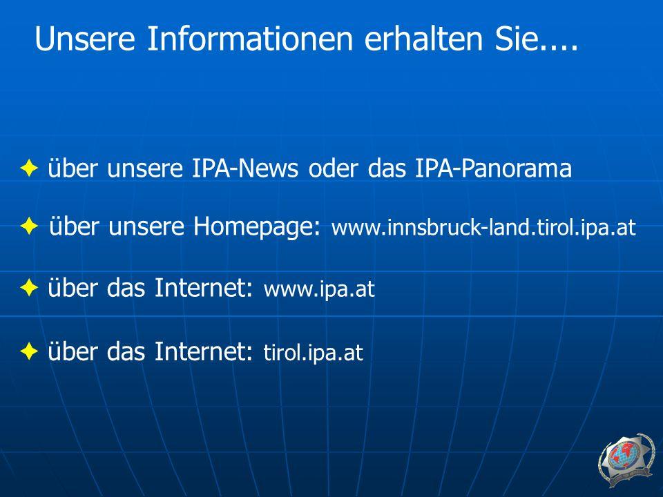Unsere Informationen erhalten Sie....