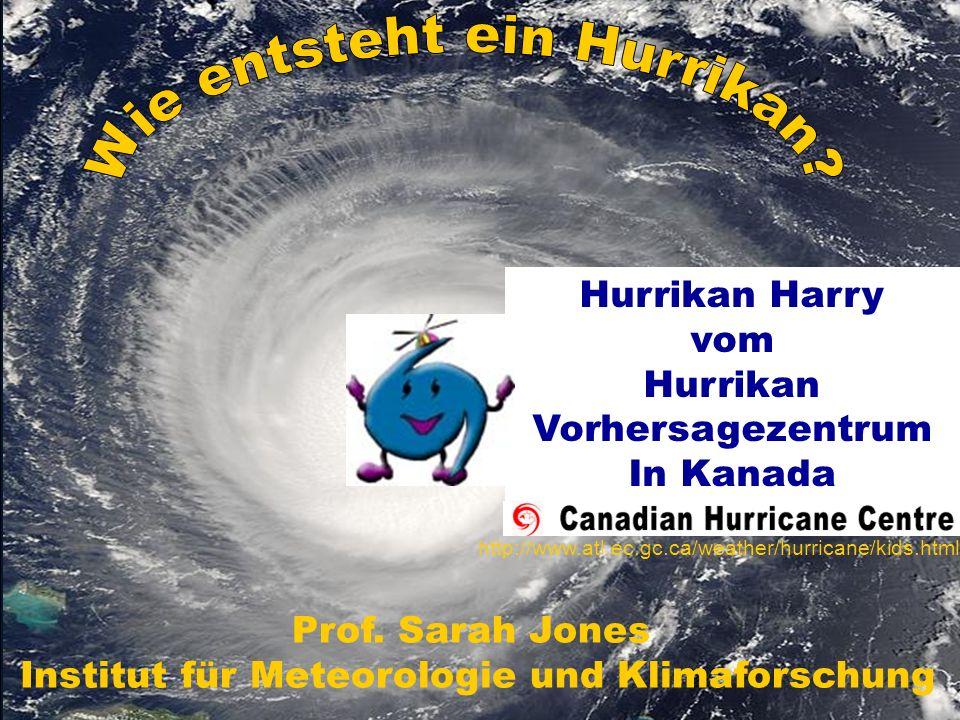 Hurrikan Harrys Quiz – Frage 1 Wieviele tropische Wirbelstürme gibt es ungefähr im Jahr auf der Erde.
