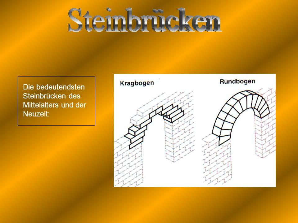 Die bedeutendsten Steinbrücken des Mittelalters und der Neuzeit: