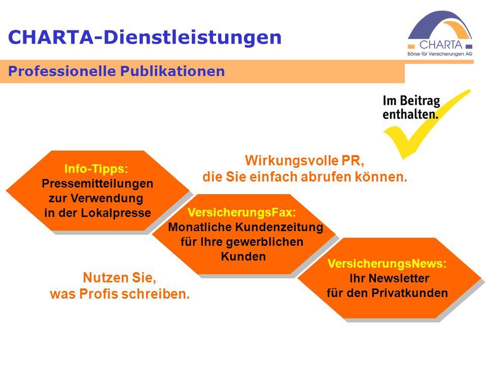CHARTA-Dienstleistungen Info-Tipps: Pressemitteilungen zur Verwendung in der Lokalpresse Info-Tipps: Pressemitteilungen zur Verwendung in der Lokalpre