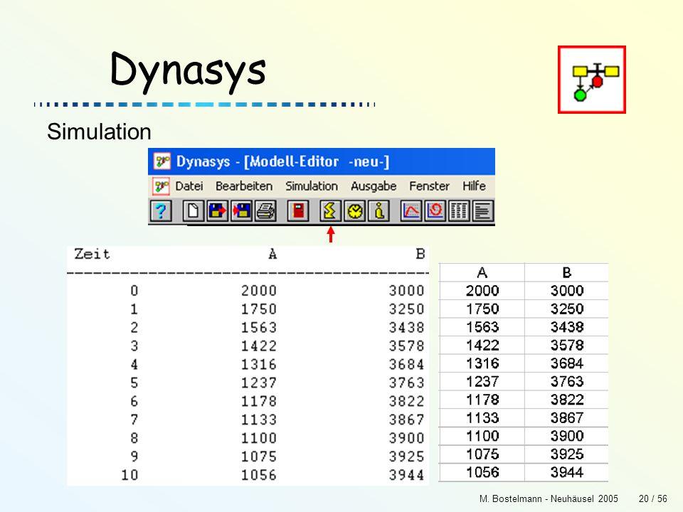M. Bostelmann - Neuhäusel 200520 / 56 Dynasys Simulation
