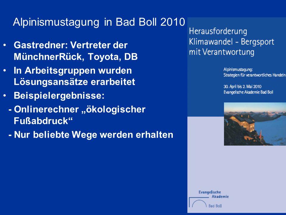 Gastredner: Vertreter der MünchnerRück, Toyota, DB In Arbeitsgruppen wurden Lösungsansätze erarbeitet Beispielergebnisse: - Onlinerechner ökologischer