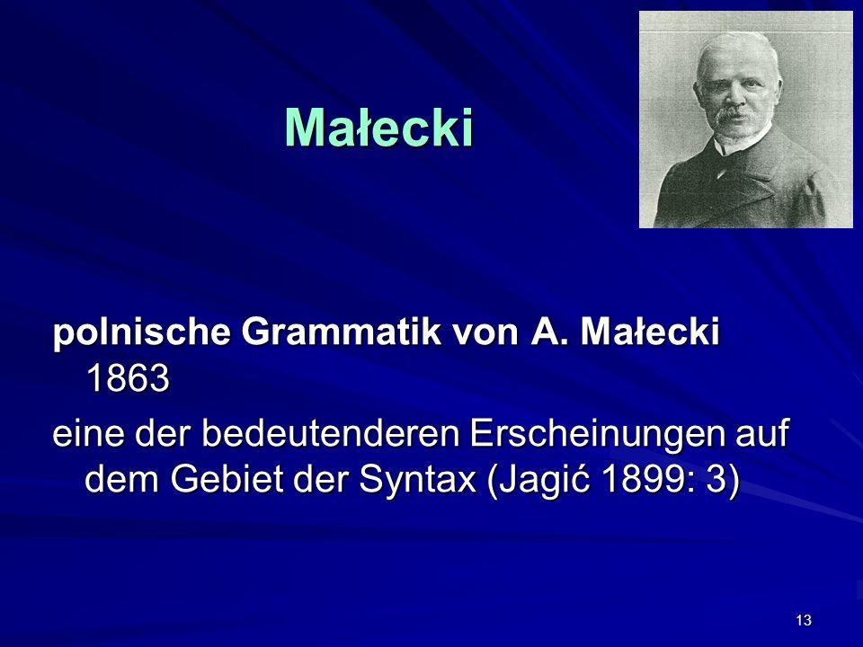 13 Małecki polnische Grammatik von A.