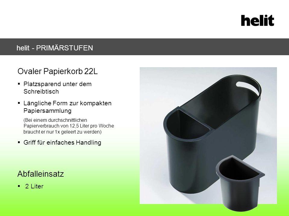 Ovaler Papierkorb 22L Platzsparend unter dem Schreibtisch Längliche Form zur kompakten Papiersammlung (Bei einem durchschnittlichen Papierverbrauch vo
