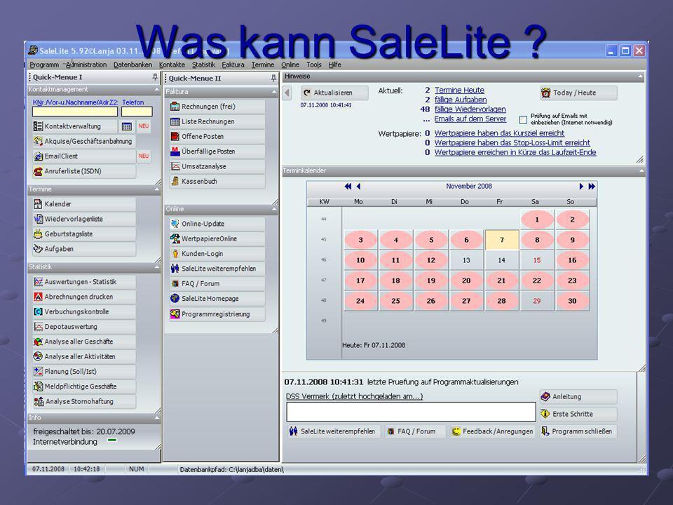 Was kann SaleLite ?