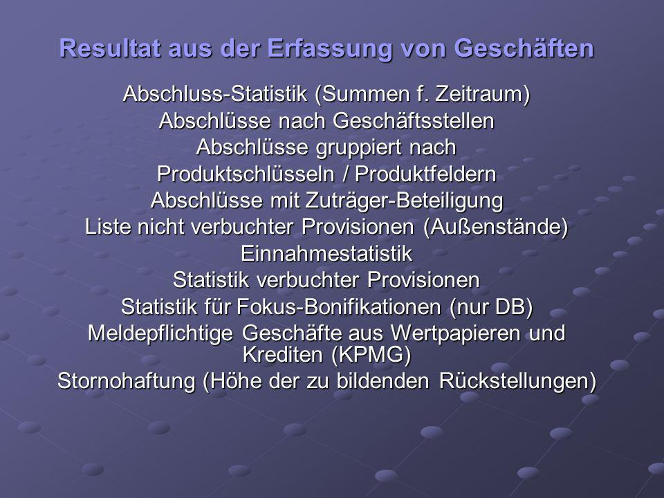Depot-Bestand nach Risikoklassen Bericht: Depotbewegungen