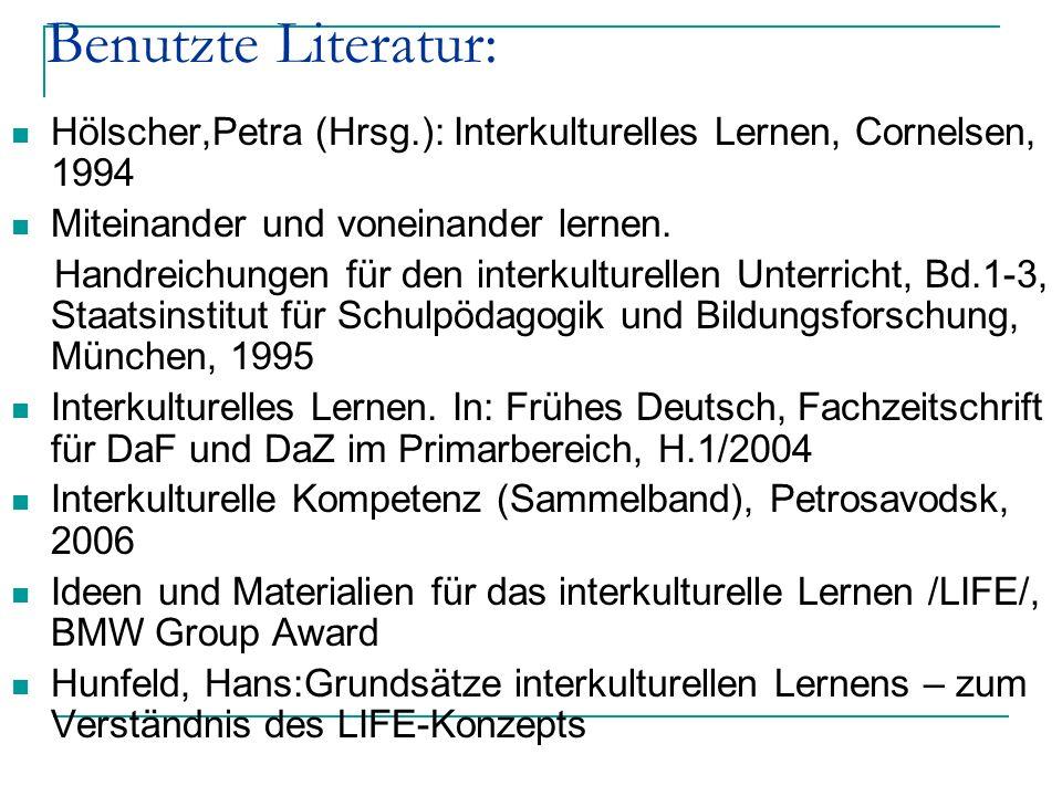 Hölscher,Petra (Hrsg.): Interkulturelles Lernen, Cornelsen, 1994 Miteinander und voneinander lernen. Handreichungen für den interkulturellen Unterrich