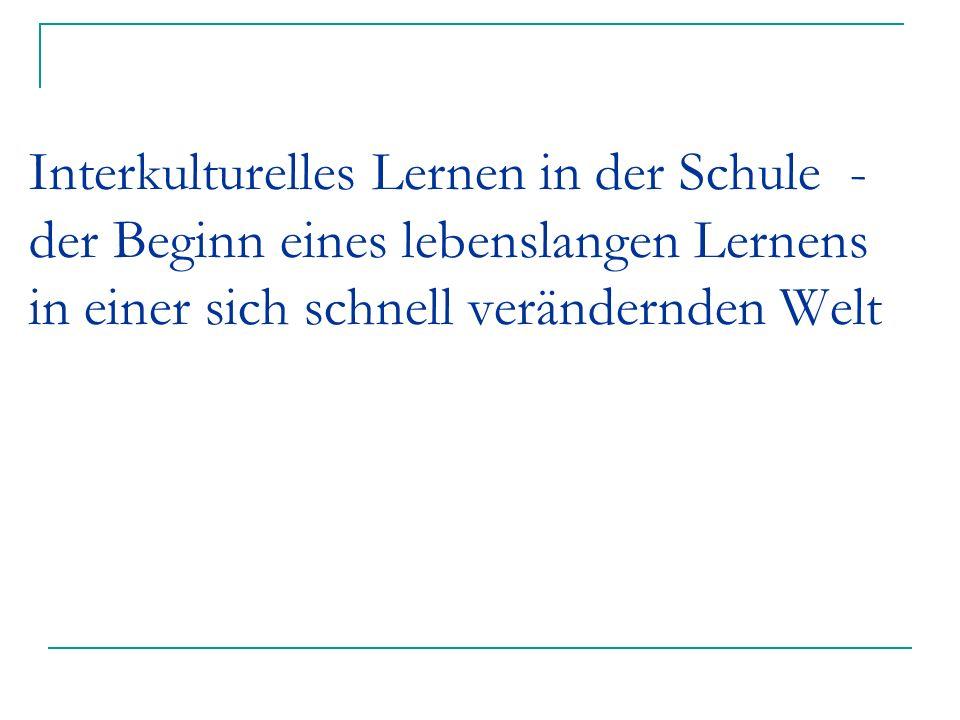 Gemeinsam (über-)leben lernen Elternarbeit in der Schule: ausländische Eltern lernen Deutsch mit ihren Kindern in der Schule Wir sind eine interkulturelle Schule (Preisträger: Mozart-Volksschule Elsenfeld) Medien: E-Mail-Projekt, durch Arbeit mit Internetadressen;