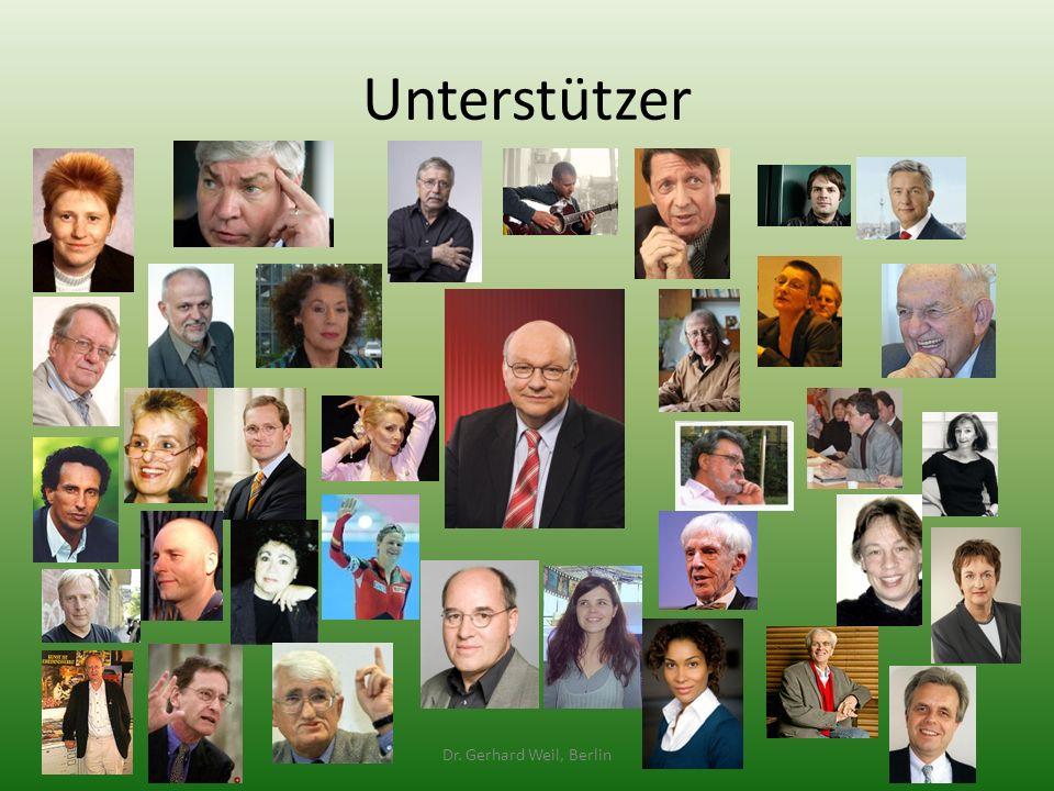 Unterstützer Dr. Gerhard Weil, Berlin