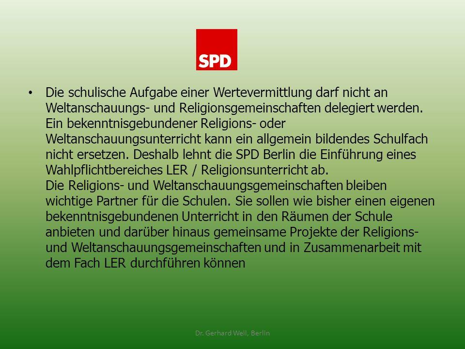 Die schulische Aufgabe einer Wertevermittlung darf nicht an Weltanschauungs- und Religionsgemeinschaften delegiert werden. Ein bekenntnisgebundener Re
