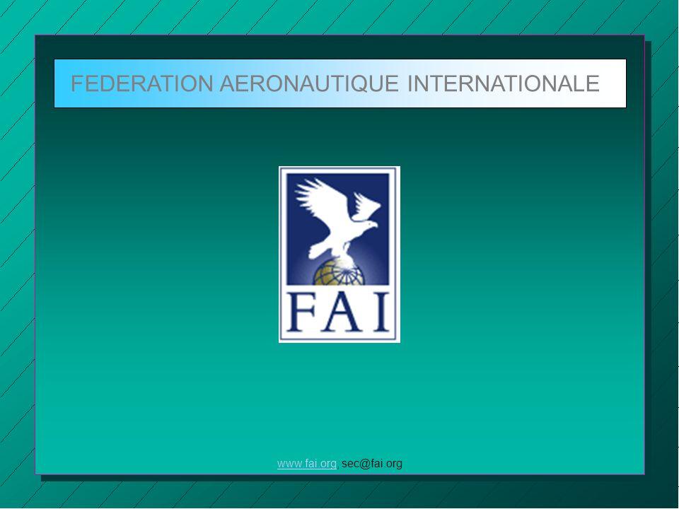 FEDERATION AERONAUTIQUE INTERNATIONALE www.fai.orgwww.fai.org, sec@fai.org Kapitel 5 Sportzeugen