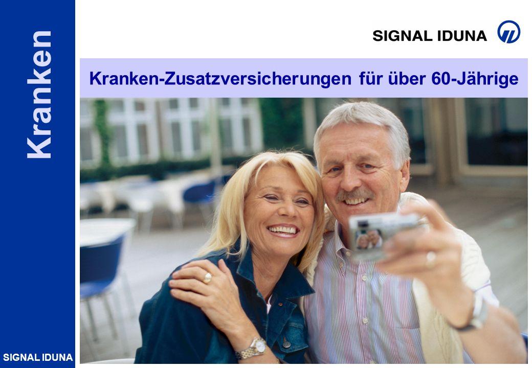 SIGNAL IDUNA Folie 1 Kranken Kranken-Zusatzversicherungen für über 60-Jährige