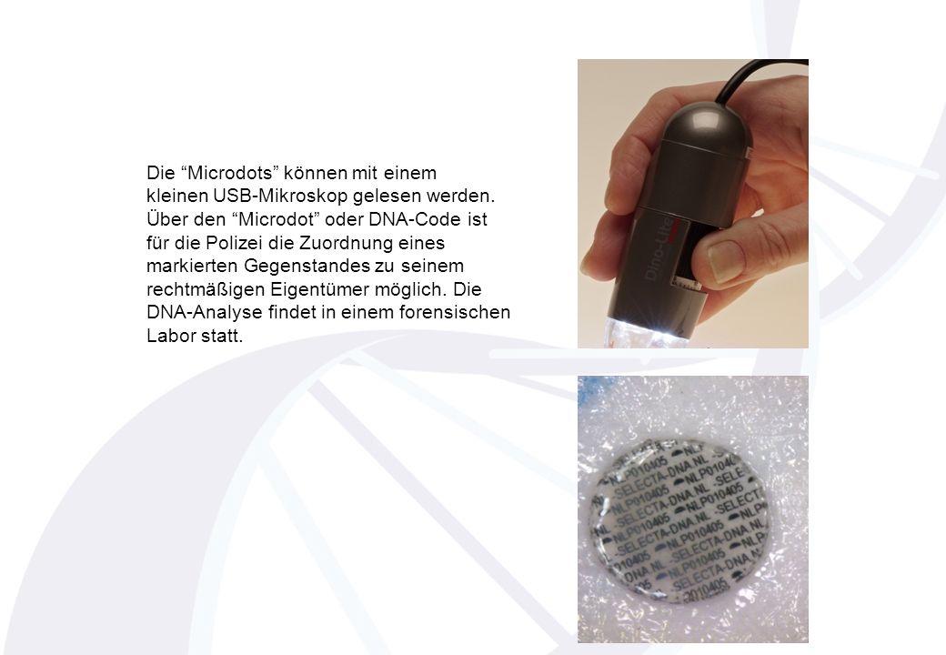 www.polizei.brandenburg.de Polizeidirektion Ost PI Uckermark Die Microdots können mit einem kleinen USB-Mikroskop gelesen werden.