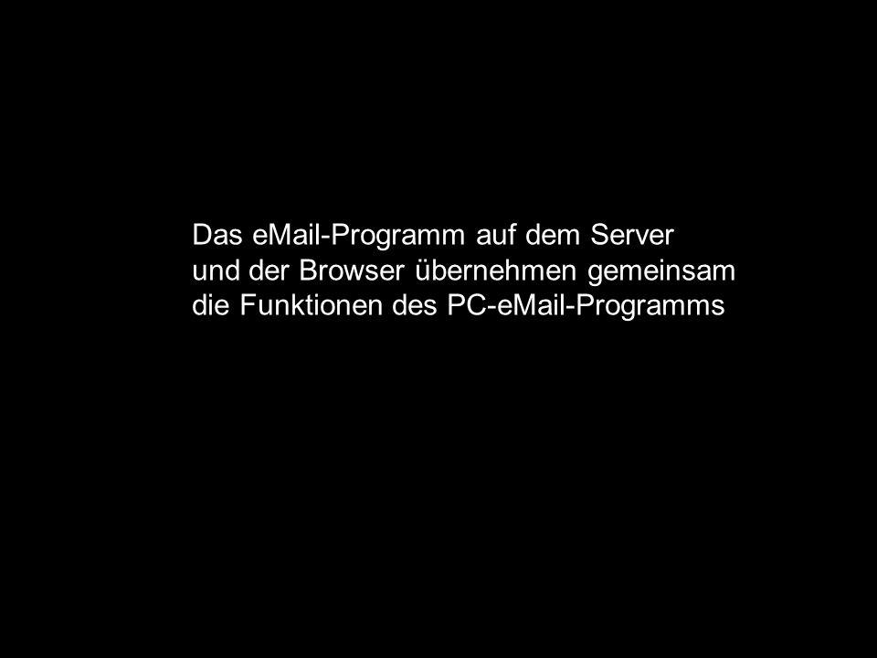 Anschluss über Telefonleitung: Analog, ISDN, DSL PC Provider für Internetzugang Server für eMail Provider für Homepage Das eMail Das eMail-Programm au