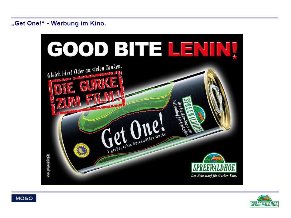 Get One! - Werbung im Kino.