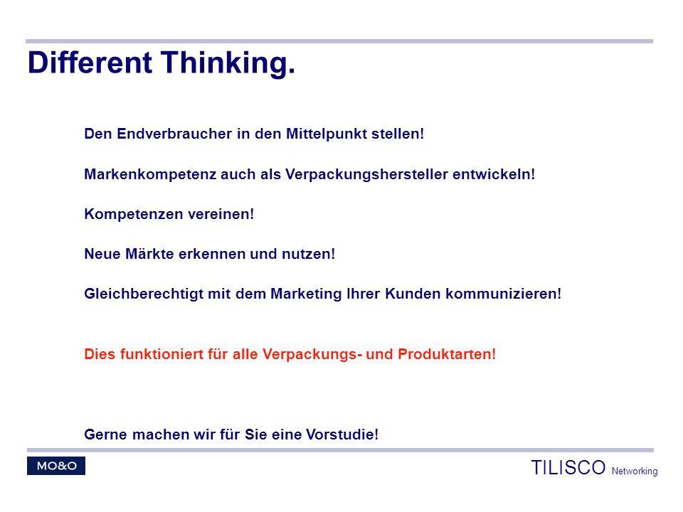 Different Thinking. Den Endverbraucher in den Mittelpunkt stellen! Markenkompetenz auch als Verpackungshersteller entwickeln! Kompetenzen vereinen! Ne