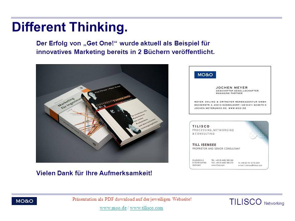 Different Thinking. Der Erfolg von Get One! wurde aktuell als Beispiel für innovatives Marketing bereits in 2 Büchern veröffentlicht. Vielen Dank für