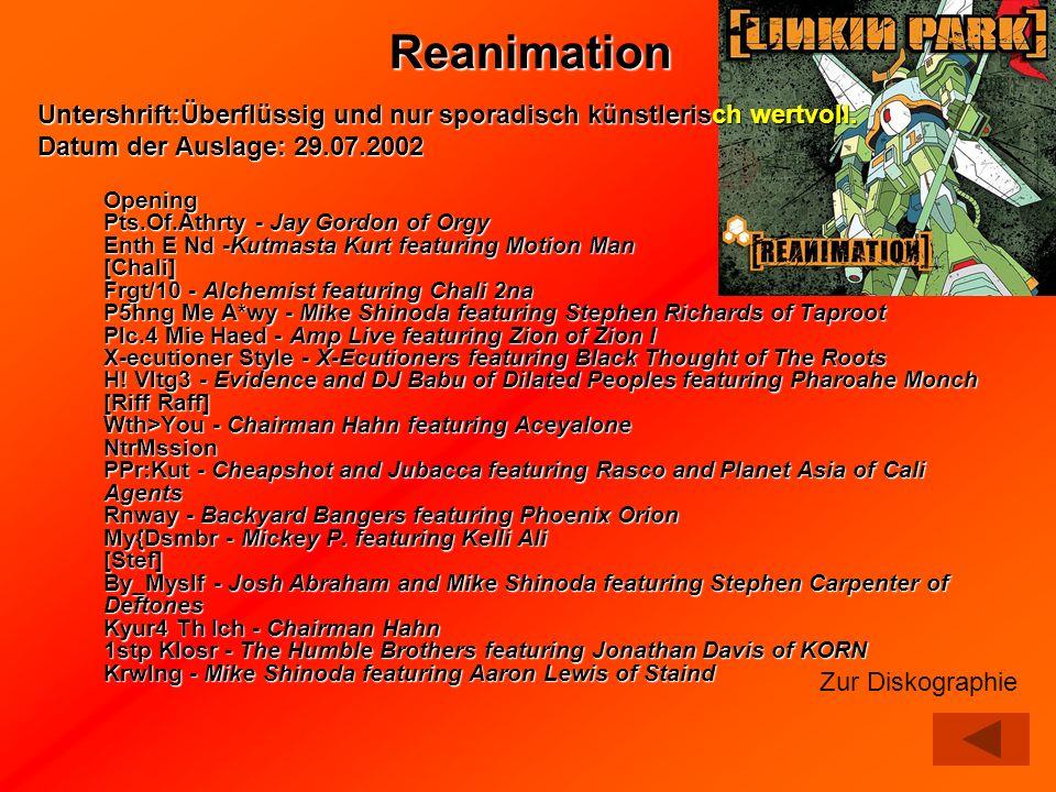 Untershrift:Überflüssig und nur sporadisch künstlerisch wertvoll. Datum der Auslage: 29.07.2002 Untershrift:Überflüssig und nur sporadisch künstlerisc