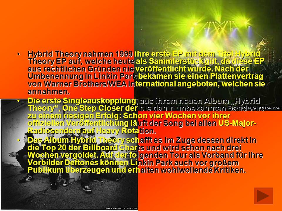 Hybrid Theory nahmen 1999 ihre erste EP mit dem Titel Hybrid Theory EP auf, welche heute als Sammlerstück gilt, da diese EP aus rechtlichen Gründen ni