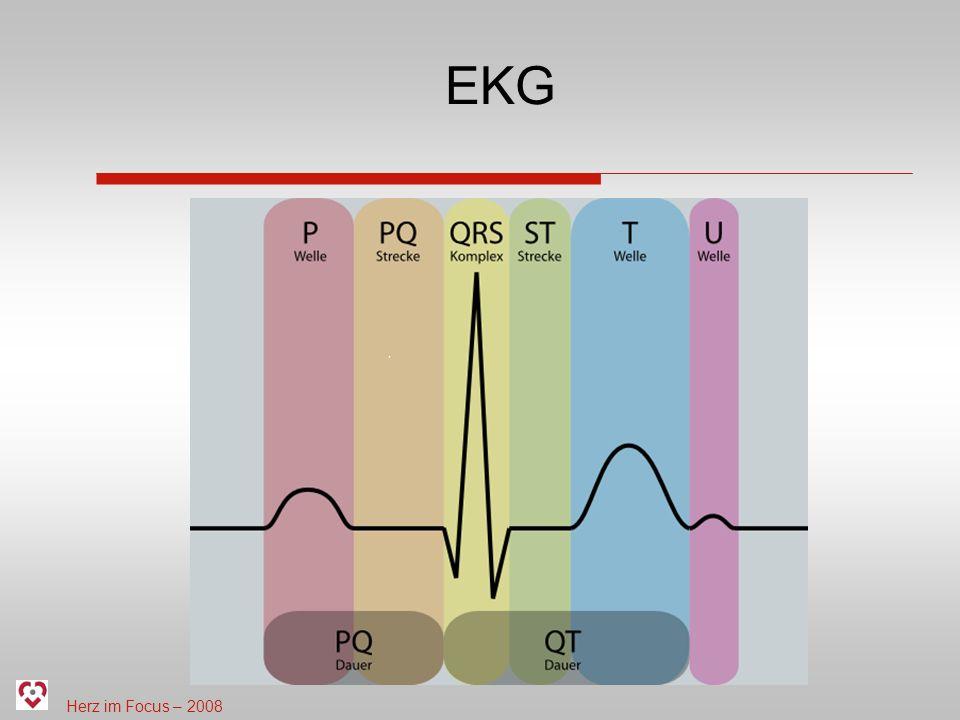 Herz im Focus – 2008 Wozu dient das EKG.