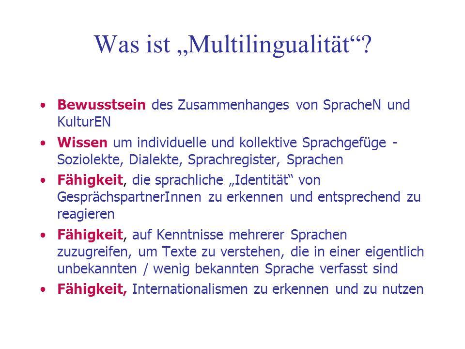 Was ist Multilingualität.
