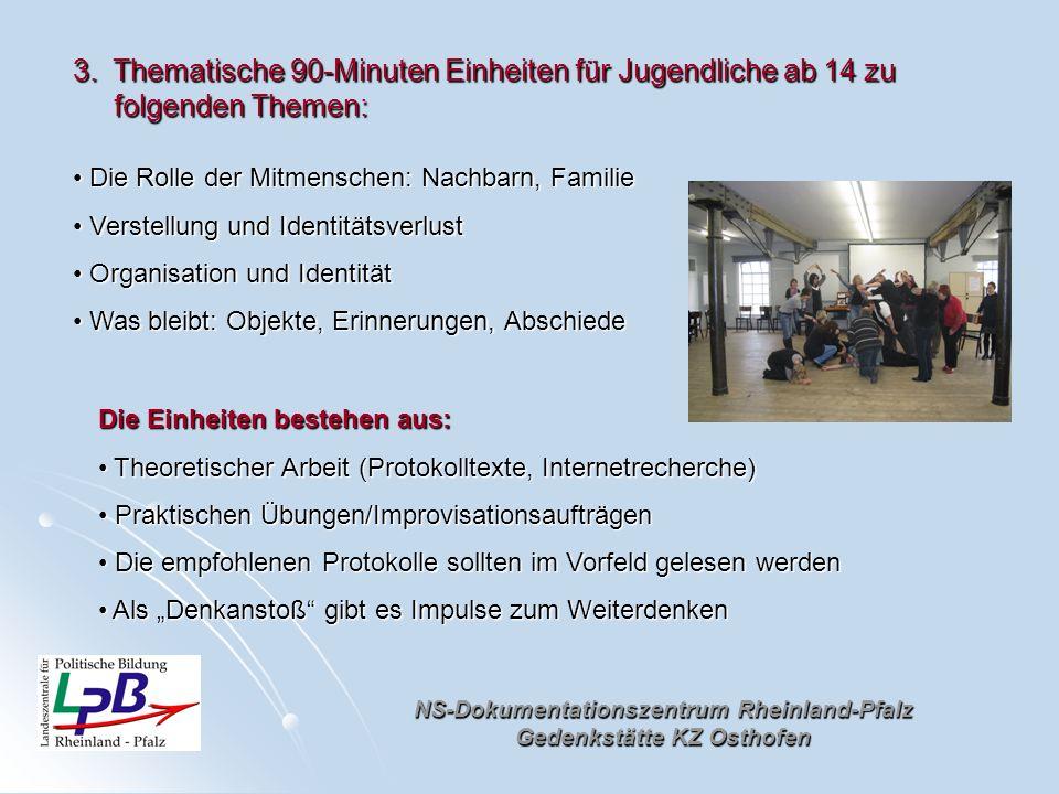 NS-Dokumentationszentrum Rheinland-Pfalz Gedenkstätte KZ Osthofen Die Rolle der Mitmenschen: Nachbarn, Familie Die Rolle der Mitmenschen: Nachbarn, Fa