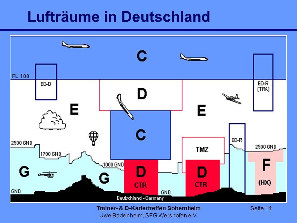 Trainer- & D-Kadertreffen Sobernheim Uwe Bodenheim, SFG Wershofen e.V. Seite 14 Lufträume in Deutschland