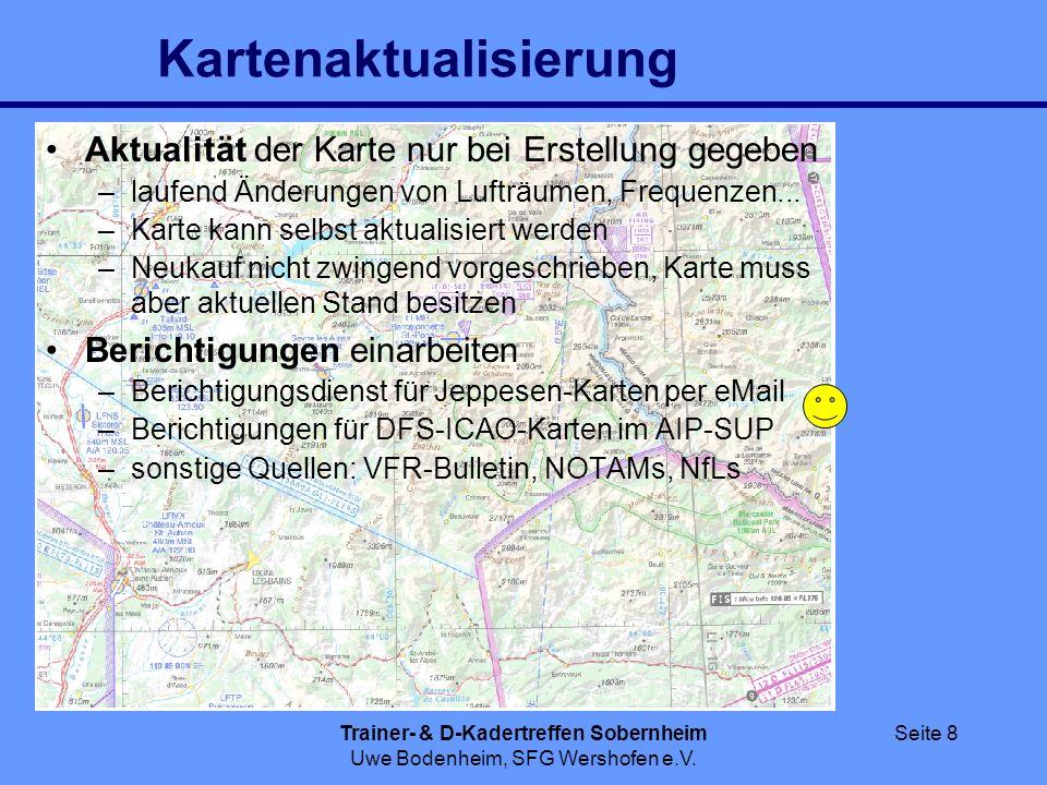 Trainer- & D-Kadertreffen Sobernheim Uwe Bodenheim, SFG Wershofen e.V. Seite 8 Kartenaktualisierung Aktualität der Karte nur bei Erstellung gegeben –l