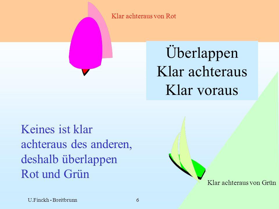 01.09U.Finckh - Breitbrunn6 Keines ist klar achteraus des anderen, deshalb überlappen Rot und Grün Klar achteraus von Rot Klar achteraus von Grün Überlappen Klar achteraus Klar voraus